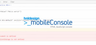 mobileConsole - JavaScript console for mobile devices