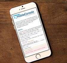 mobileConsole @ iOS